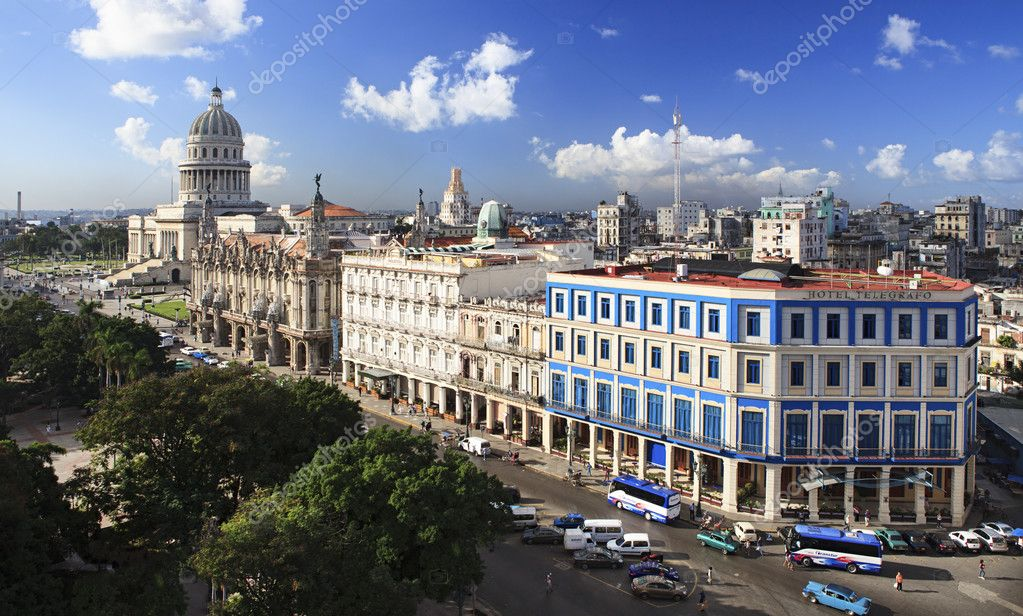 Paseo de Martí. Historic center of Havana. Cuba. — Stock Photo #12355239