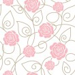 Seamless floral pattern with roses - Imagen vectorial