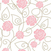 Seamless floral pattern with roses — ストックベクタ