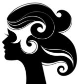 Beautiful woman silhouette — Stock Vector