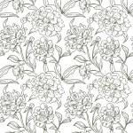 牡丹のシームレスなパターン — ストックベクタ