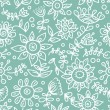 Cartoon floral seamless pattern — Stock Vector