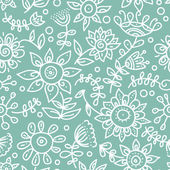 Cartoon floral seamless pattern — Stock Vector