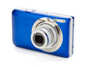 Blue compact camera — Stock fotografie