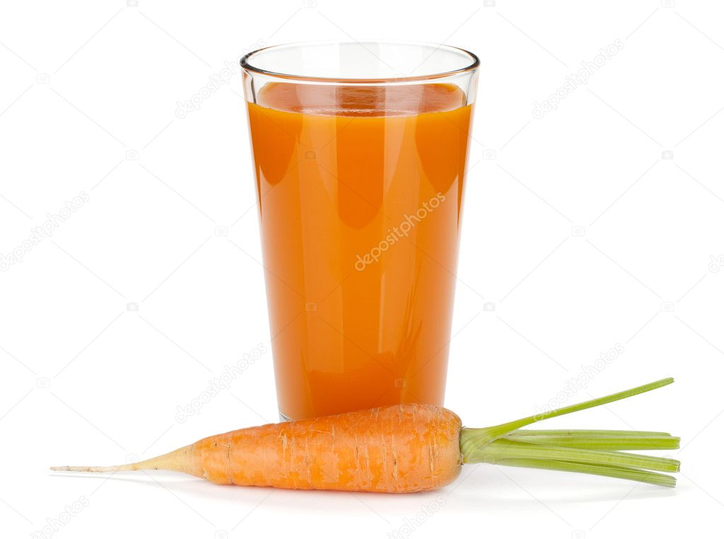 Carrot juice. Isolated on white background  Stock Photo #11924875