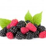 Blackberry and raspberry — Stock Photo #12010461