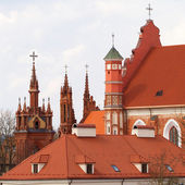 St. Anne's and Bernardinu Church in Vilnius, Lithuania — Foto Stock
