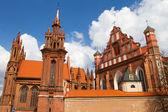 St. Anne's and Bernardinu Church in Vilnius, Lithuania — Stock Photo