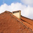 Red tile roof of Vilnius Old Town buildings — Stock Photo