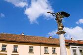 статуя ангела на uzupio, художественного район в вильнюсе — Стоковое фото