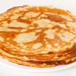 Stack of pancakes isolated on white background — Stock Photo #10950882