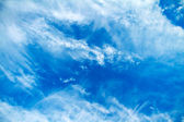 Beatiful blue sky with white clouds — Stock Photo