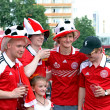 Denmark football fans — Foto de Stock