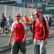 Denmark football fans — Stock Photo