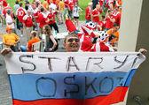 Russian football fan — Stock Photo