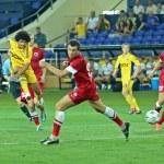 FC Metalist vs FC Illichivets soccer match — Stock Photo #11703360