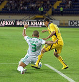 FC Metalist Kharkiv vs AC Omonia Nicosia match — Stock Photo