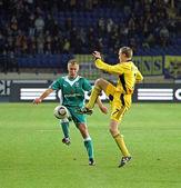 Fc metalist kharkiv vs fc obolon kiev calcio partita — Foto Stock