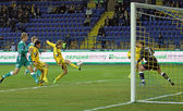 Fc metalist kharkiv vs fc obolon kiev calcio partita — Foto Stock
