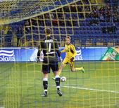 Mecz fc metalist charków vs fc obołoń kijów piłki nożnej — Zdjęcie stockowe