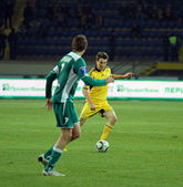 FC Metalist Kharkiv vs FC Obolon Kyiv football match — Stock Photo