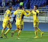FC Metalist Kharkiv vs FC Obolon Kyiv football match — Stockfoto