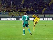 FC Metalist Kharkiv vs FC Obolon Kyiv football match — Stock Photo