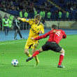 Metalist Kharkiv vs Metalurh Zaporizhya soccer match - Stock Photo