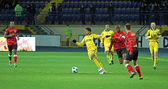 Metalist Kharkiv vs Metalurh Zaporizhya soccer match — Photo