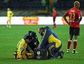メタリスト ハリコフ vs metalurh zaporizhya サッカーの試合 — ストック写真