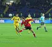 Partido de fútbol metalist kharkiv vs volyn lutsk — Foto de Stock