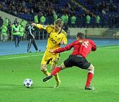 Metalist Kharkiv vs Metalurh Zaporizhya soccer match — Stock Photo