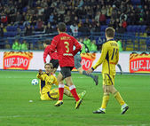 Partita di calcio metalist kharkiv vs metalurh zaporizhya — Foto Stock