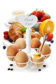 Fresh healthy breakfast with eggs — Foto de Stock
