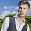Good looking beautiful young man — Stock Photo