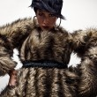 Elegant fashionable woman in fur. Fashion photo. — Stock Photo