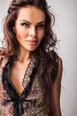 Amazing studio portrait of beautiful woman. — Stock Photo