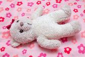 Teddy bear ready for sleep — Stock Photo