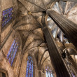 Cathedral of the Holy Cross and Saint Eulalia - Barcelona - Spai - Stock Photo