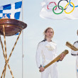 Thessaloniki welcomes Olympic Torch — Lizenzfreies Foto