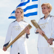 Thessaloniki welcomes Olympic Torch — Stock Photo #11009705