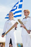 Thessaloniki welcomes Olympic Torch — Stock Photo