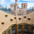 Antoni Gaudi's work at the roof of Casa Mila - Stok fotoğraf