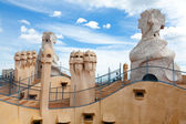 Antoni Gaudi's work at the roof of Casa Mila — Stock Photo