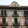 Old buildings' facades in Barcelona - Spain — Stock Photo
