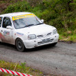 D. Nagle driving Nissan Micra - Stock Photo