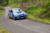 D. Creedon driving Subaru Impreza — Stock Photo