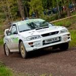 Постер, плакат: E Mcnulty driving Subaru Impreza