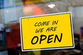 Abrir signo — Foto de Stock
