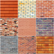 Brick wall textures - Stock Photo